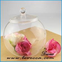 Vidro barato por atacado vaso de alta qualidade venda quente de vidro artesanato limpar vaso de vidro para home decor
