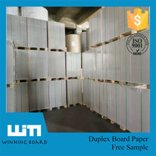 Recycled Pulp Duplex Board Grey Back Cardboard Sheet Package