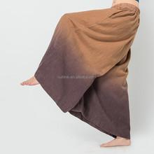 Lunkuo Latest Design Elastic Waist Tie Dye Printing Plus Size Women Cheap Palazzo Pants