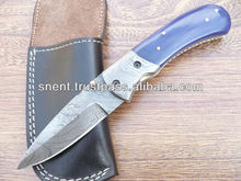 Custom Made Damascus Steel Folding, Pocket Knife