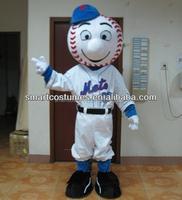 China made best selling mr met costume cartoon character EVA plush mr met mascot costume for adult