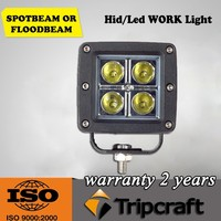 Hot sales! 8PCS/LOT! 16W Square LED WORKING LIGHT 12V For Truck Tractor Trailer ATV UTV 4X4 SUV