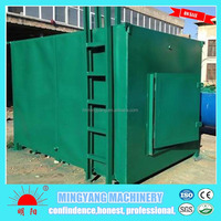 Ce approved energy saving spontaneous combustion type wood carbonization kiln with factory price