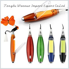 China mini four colour refill pen with hanging cord