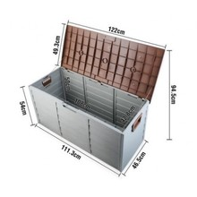 290L large capacity waterproof outdoor storage container