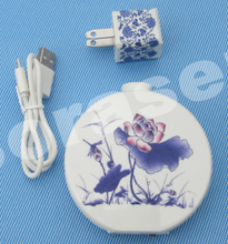 5V2.4A output portable blue and white porcelain travel power bank