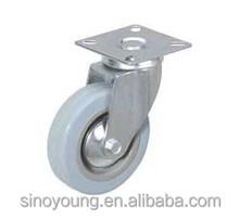 Gray swivel castor wheels