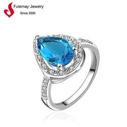 Cheap fashion jewelry big stone ring designs for women