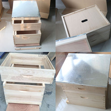 Competitive price langstroth bee hive with solid fir wood in bulk for export