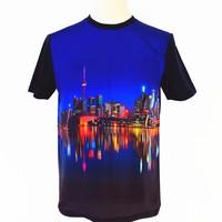 Custom Men's Clothes O neck Short Sleeve Plain cotton 3d printing t shirts