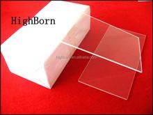 transparent square quartz plate with excellent size tolerance