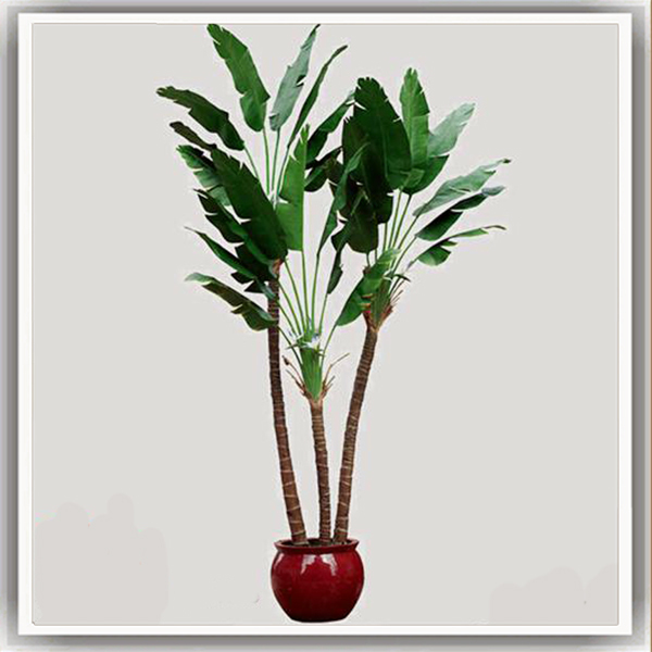 Guangzhou st factory direct sale artificial banana tree for Artificial banana leaves decoration