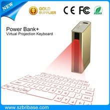 High Quality 4 in 1 function Laser keyboard/ 5200mAh Power Bank with Laser Keyboard
