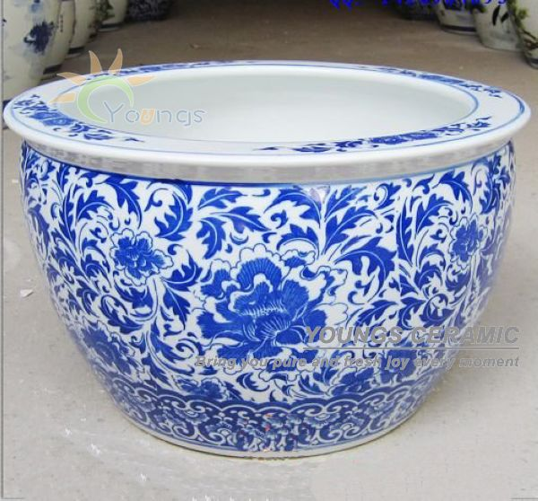wholesale large chinease ceramic planter garden flower pots for indoor
