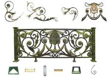 GYD-15B039 Antique Iron Balcony rattan balcony sofa set