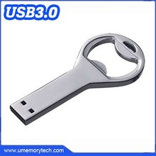 3.0 interface usb flash drive bottle opener silver color metal usb bottle opener