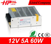CCTV camera low price high quality switching power supply 60w 5 amp 12v constant current dimmable led driver