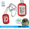 lovely fashion custom top sale eco-friendly pet tag with metal qr code for promotional gift