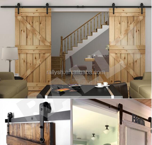 Interior Solid Wood Sliding Barn Door Hardware Kit Buy Garage Door