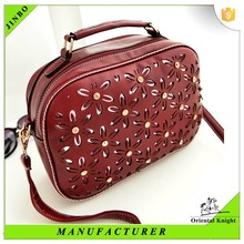 2015 wholesale exported trendy leather women handbag in china