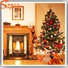 Made in China wholesale new design fiber optic PVC christmas tree lighted needle pine trees festival decoration for home hotel