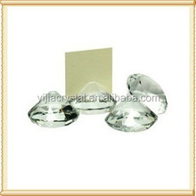 Beautiful Clear Diamond Crystal Card Holder For Office Decoration