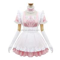 Japanese sexy pink maid dress uniform Japan fancy dresses for sale