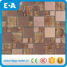 Brown Stainless Steel With Laiminated Glass Comfortable Designer Kitchen Wall Tile