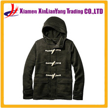 Male money flannelette fleece jacket Autumn and winter style Can match couple hoodies with Horn Button