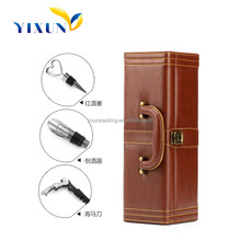 NEW Arrival Hot Selling Cheap custom leather wine box carrier, Paper wine box