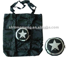 New style 190T polyester five star shaped foldable shopping bag
