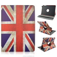 """UK/England Flag Design Rotatable Flip Stand PU Leather Cover Cases For Samsung Galaxy Tab A 9.7"""" T550"""