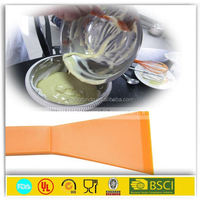 Baking silicone bowl pen scraper for chocolate or cheese