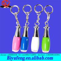 PVC Color change Flashing skeleton Led Lights Keychain for Halloween gifts
