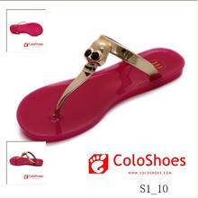fasion jelly sandals latest design flat sandals 2013