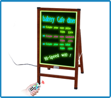 Alibaba Trade Assurance ZD rechargeable led open sign 90 Flashing High Transmittane foldable stand light display advertising boa