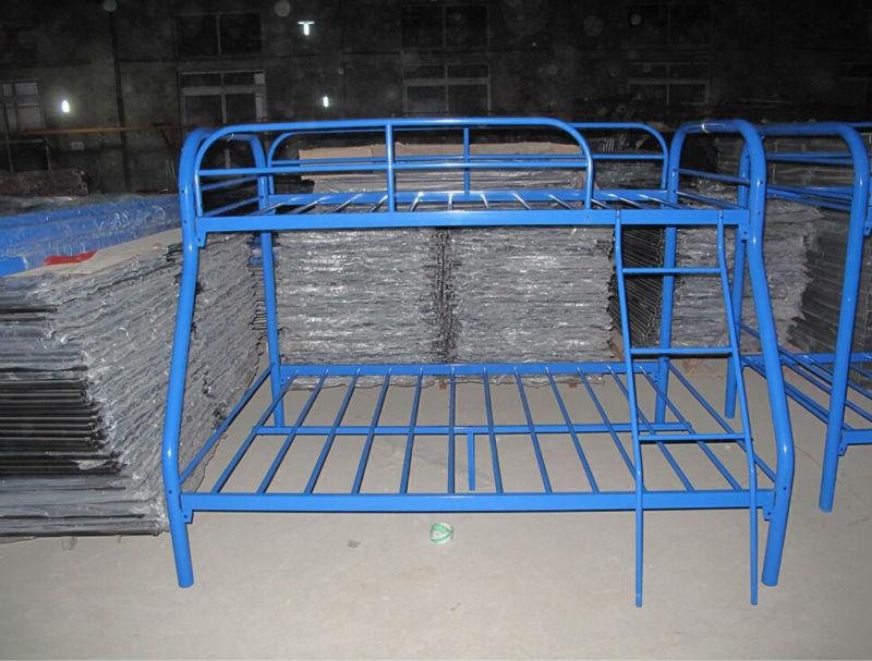 Blue Metal Triple Children Sleeper Bunk Bed Frame - Buy Bunk Bed No ...