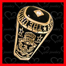 Fashion Gold Plated Stainless Steel Military Rings for Men Wholesale