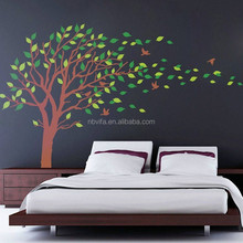 Large size Wind Blowing Tree Nursery Wall Sticker Removable Decal Kid Baby Decor Art Mural
