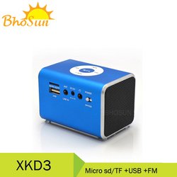 portable radio with usb sd