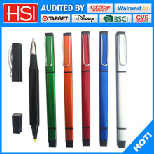 stationery products ball pen and marker pen 2 in 1 ball point pen