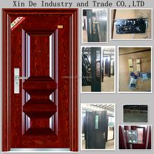 XIN DE professionally supply steel security door with filling of honeycomb paper