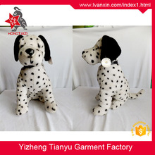 Cute design factory direct sale stuffed spotty puppy plush white dog toy