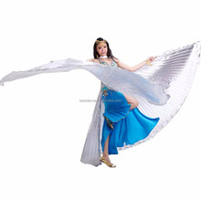 BestDance Egyptian Egypt Belly Dance bifurcate open on the back Isis Wings with no sticks