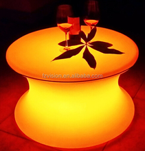 Round Modern LED Light Up Coffee Table Flash Dinning Room Lighting Table