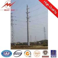 Steel utility distribution poles