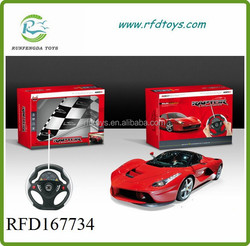 2015 Hot sale coolest 4ch 1:22 rc car with light steering wheel remote control car