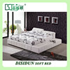 bed leather bed modern bed bedroom furniture DS-TJ31