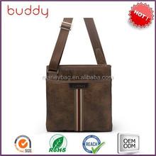 Fashion men pu hand bag with long shoulder strap