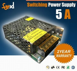 CE RoHS approval dc12v 60W 5A led switching power supply